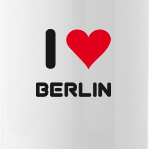 I love berlin heart Germany City love holidays B - Water Bottle