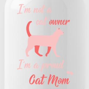Cat Mom rosa - Trinkflasche