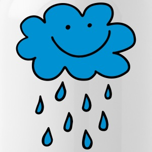 Funny cloud with raindrops, weather, spring, water - Water Bottle
