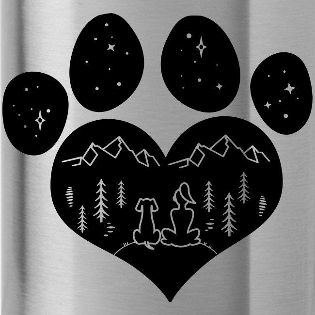 Vorschau: dog girl outdoor pawheart - Trinkflasche