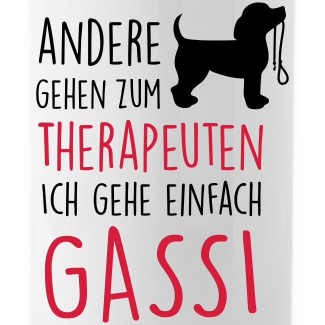 Gassi Therapeut Hund - Trinkflasche