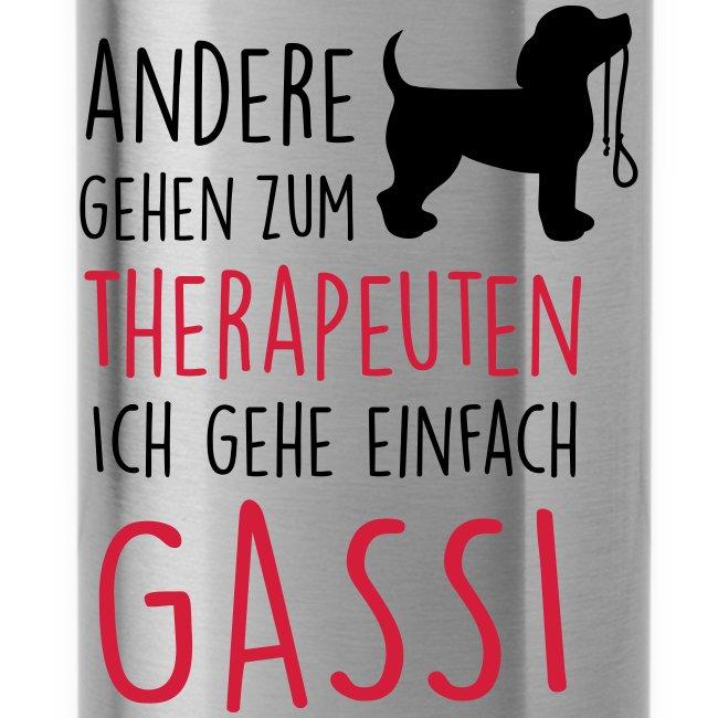 Vorschau: Gassi Therapeut Hund - Trinkflasche