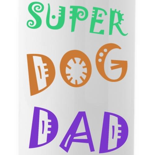 Super dog dad - Drinkfles met geïntegreerd rietje