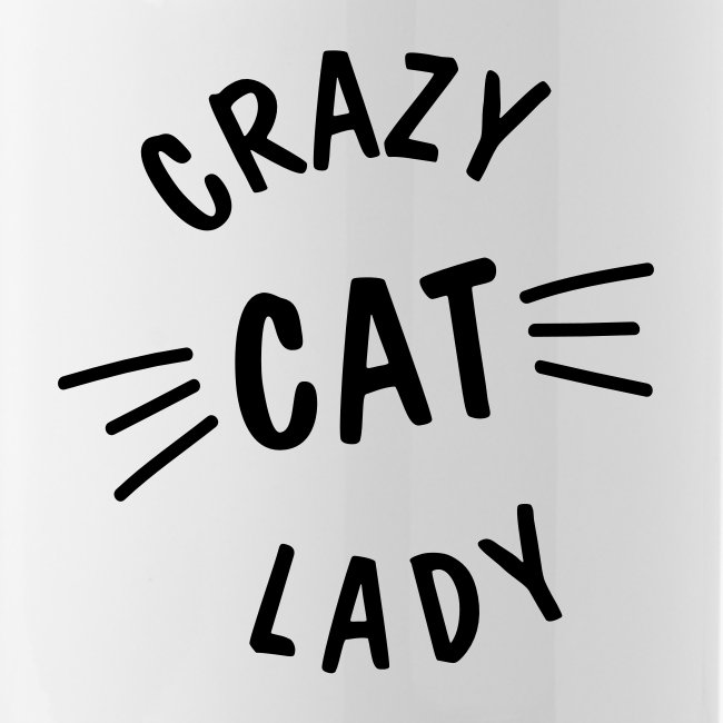 Crazy Cat Lady meow - Trinkflasche