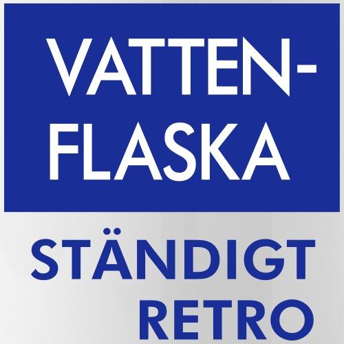 BLÅVITT VATTENFLASKA - Vattenflaska med integrerat sugrör