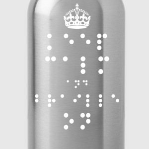 Keep Calm and Braille On - Drinkfles