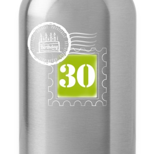 30 years birthday anniversary stamp postal stamp - Water Bottle