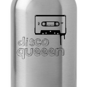 disco queen vintage Kassette illustration Frau gir - Trinkflasche