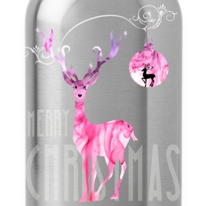 rentier pink Christmas advent nicholas girl woman - Water Bottle