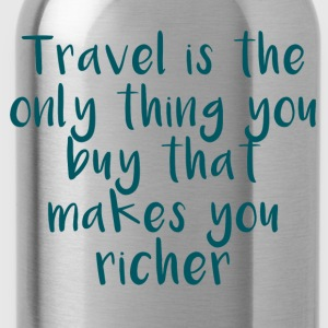 Travel Is The Only Thing - Trinkflasche