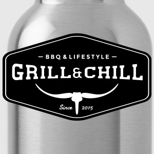 BBQ and Chill / BBQ and Lifestyle Origin Logo - Water Bottle
