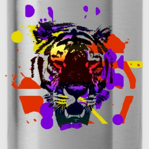 Tiger Splatter Motive - Water Bottle