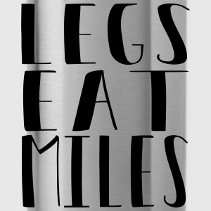 Legs eat miles - Running free - Water Bottle