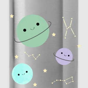 Kawaii planets - Water Bottle