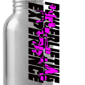powerlifting EXPERIENCE black and purple - Water Bottle