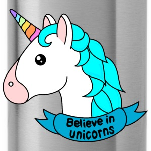 Believe in unicorns - Trinkflasche