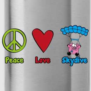 Peace Love Skydive - Trinkflasche
