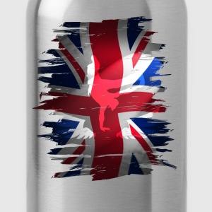 Union Jack skater Uk flag England London lol coo - Water Bottle