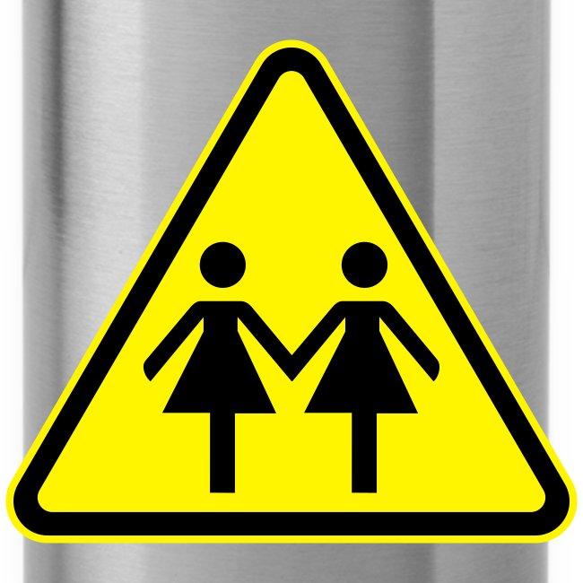ACHTUNG LESBEN POWER! Motiv für lesbische Frauen