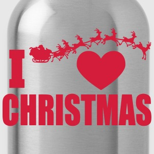 I love Christmas - Water Bottle