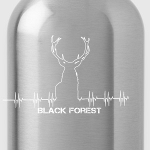 Black Forest Heartbeat white - Trinkflasche