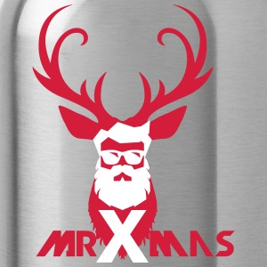 MrXmas_Shirt_red - Water Bottle