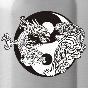 Ying Yang Tiger Dragon - Water Bottle