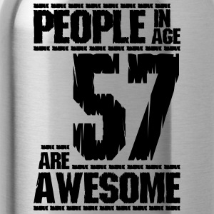 PEOPLE IN AGE 57 ARE AWESOME - Water Bottle