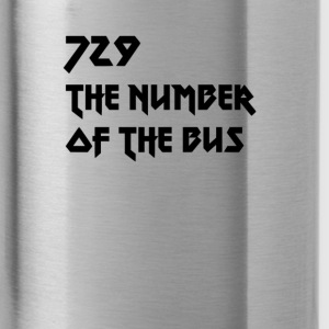 729 black - Water Bottle