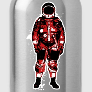 Astronaut Red Grunge - Water Bottle