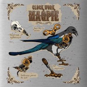 Steampunk Clockwork Magpie - Water Bottle