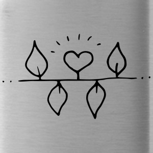Illustration: Heart with four leaves - Water Bottle