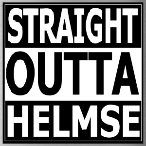 straight outta helmse - Water Bottle