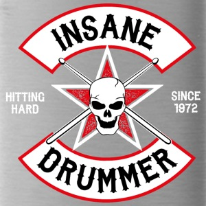 Insane Drummer - Biker Logo - Hitting Hard - Water Bottle