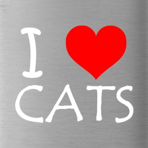 I Love Cats - Trinkflasche