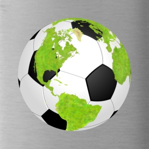 football soccer earth planet globe fu ball erde - Trinkflasche