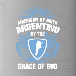 I was born are in Argentina grace of God - Water Bottle
