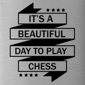THE PERFECT DAY FOR CHESS TO PLAY! - Water Bottle