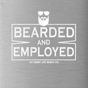 I wear a beard and working! - Water Bottle