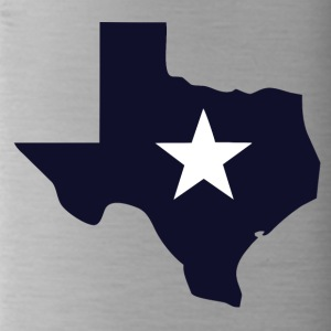TEXAS State Outline Star - Trinkflasche