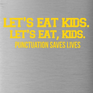 Punctuation marks can save lives funny sayings - Water Bottle