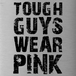 Hard guys wear pink funny sayings - Water Bottle