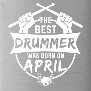The best drummers are born in April - Water Bottle