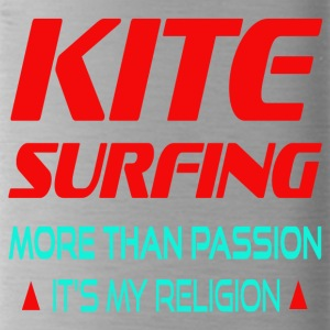 KITESURFING - MORE THAN PASSION ITS MY RELIGION - Water Bottle
