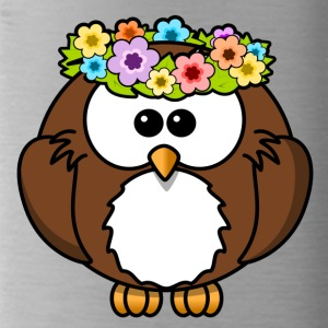 Hippie owl flowers - Water Bottle