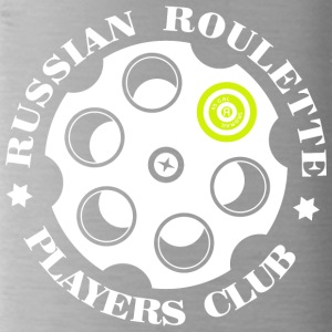 Russian Roulette Players Club logo 4 Black - Vattenflaska