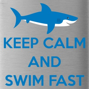 Simning / float: Keep Calm and Swim Snabb - Vattenflaska