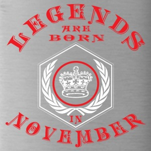 Legends born November birthday gift Young - Water Bottle