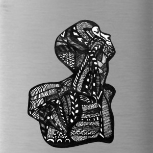 Body, Anatomy, Zentangle - Water Bottle