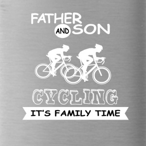 Father And Son - Cycling - Water Bottle